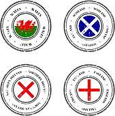 United Kingdom Grunge Rubber Stamps