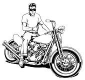 1950's Motorcycle Rider