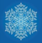 Single large detailed snowflake