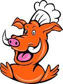wild pig boar hog chef cook baker
