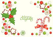 Christmas candy background