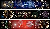 New Year Firework Banners 2