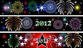 New Year Firework Banners