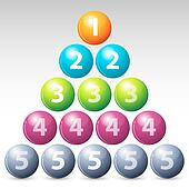 colorful number balls