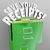 Save Your Receipts File Cabinet Tax Audit Records
