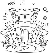 Line Art Undersea Castle