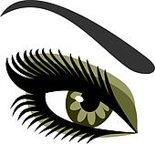 Women's eyes green