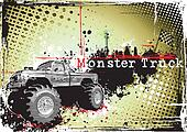 dirty monster truck