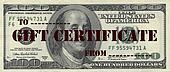 one hundred dollar gift certificate