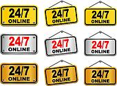 24 hour 7 day online sign
