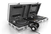 Flight Case and turntable with headphone