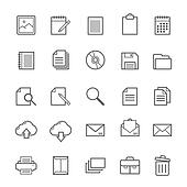 Outline stroke Document icons