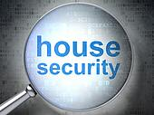 Safety concept: House Security with optical glass