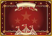Horizontal red magic circus