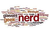 Nerd word cloud