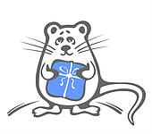 mouse with blue box