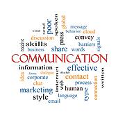 Communication Word Cloud Concept