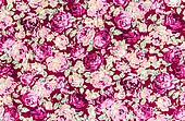 Pink rose fabric background, Fragment of colorful retro tapestry