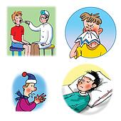 Raster illustrations about healthca