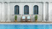 Old classic house with swimming pool