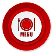 menu icon, restaurant sign