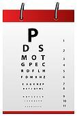 eye testing board