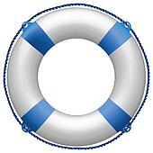 life buoy blue