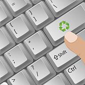 recycle button in key board