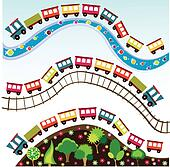 train pattern, toy
