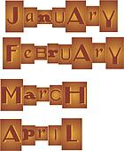 Months grouped in a Set