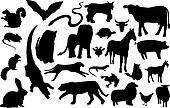 miscellaneous animal silhouettes
