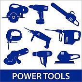 power tools icon set eps10