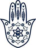 Jewish sacred amulet - hamsa or Mir