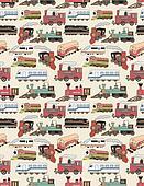 seamless Trains pattern