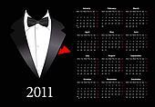Vector European calendar with elega
