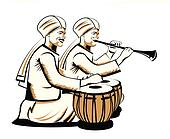indian musical performers