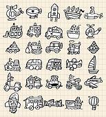 hand draw cute car element