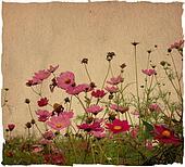 Vintage paper floral