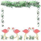 pink flamingos scrapbook