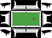 Billiards Snooker Table