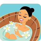 Spa Relaxation Illustration