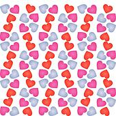 Pink and Lavender Heart Pattern
