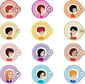 Astrologic Girl Signs Complete Set