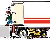 forklift thru trailer