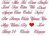 Cutout Valentine's Menu