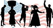 Black History Timeline Flag