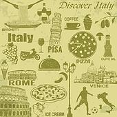 Italy travel vintage poster