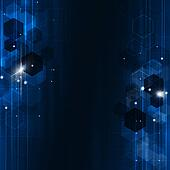 Geometric Blue Technology Background
