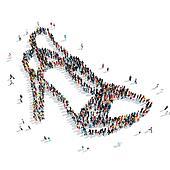 people  shape  shoes cartoon