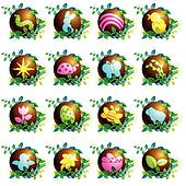 Chocolate easter icons